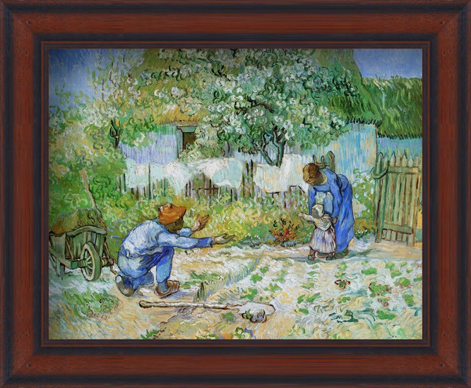 First Steps (after Millet), 1890 Art Print