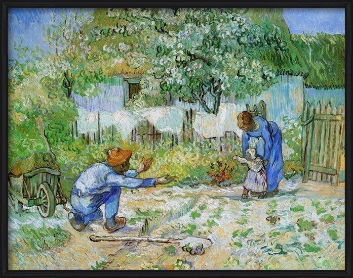 First Steps (after Millet), 1890 Art Print