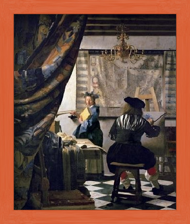 The Art of Painting, 1666-73 Art Print