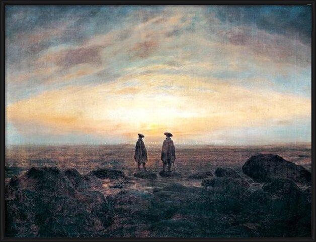 Two Men by the Sea, 1817 Art Print
