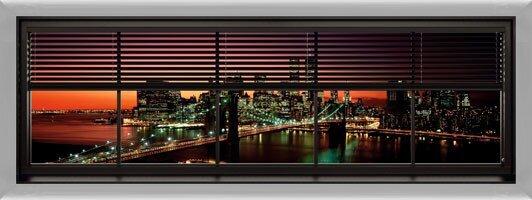 New York - window blinds Poster