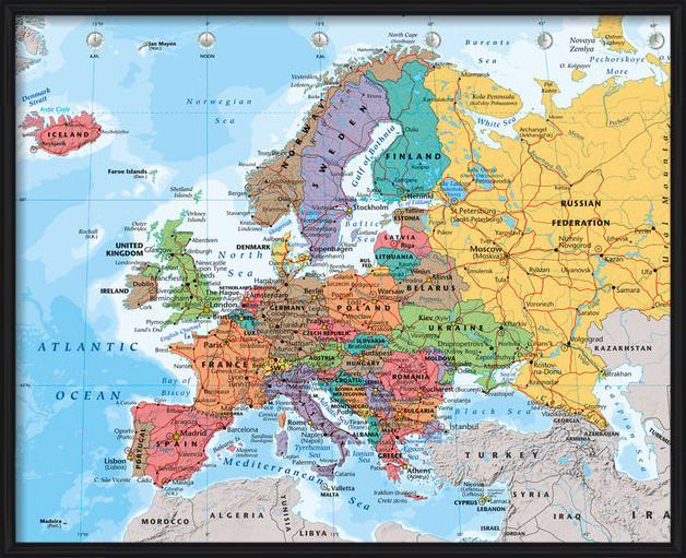Map of Europe - Political 2014 Poster