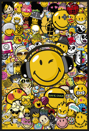 Smiley - Tribal Styles Poster