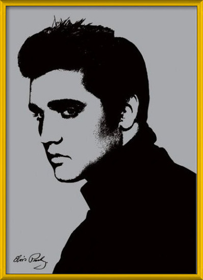 Elvis Presley - Metallic Art Print
