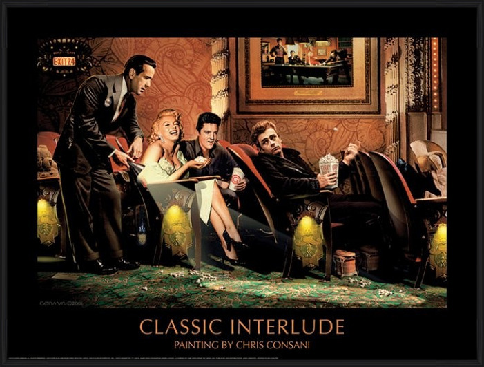 Classic Interlude - Chris Consani Art Print