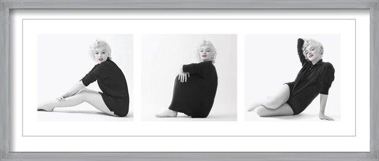 Marilyn Monroe - Sweater Triptych Art Print