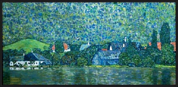 Unterach on Lake Attersee, Austria (part) Art Print