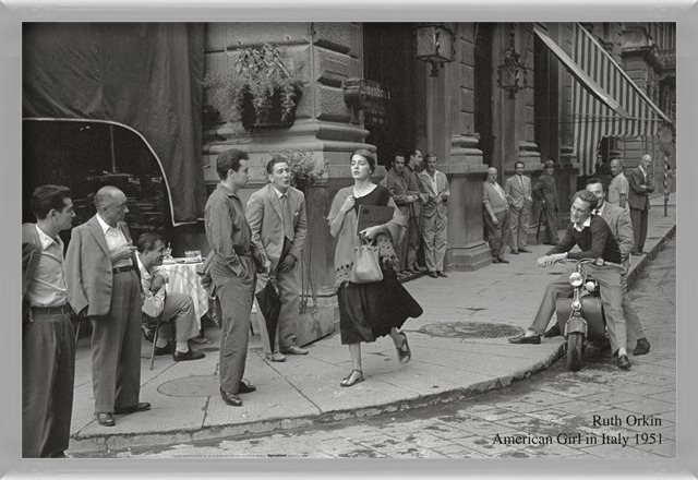 American girl in Italy, 1951 Art Print