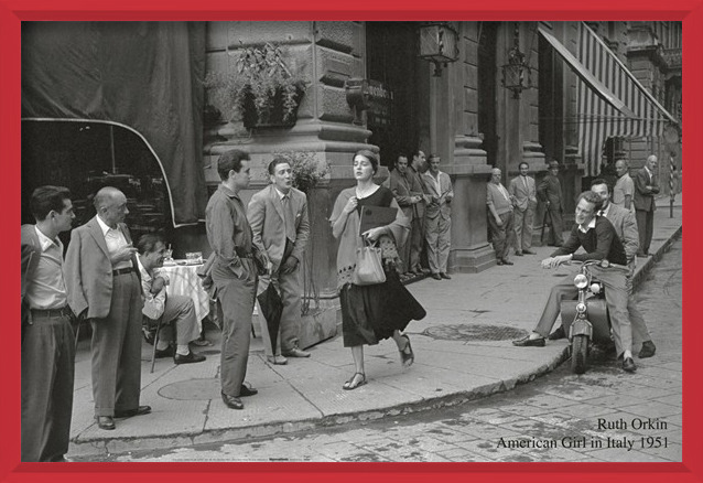 American girl in Italy, 1951 Art Print