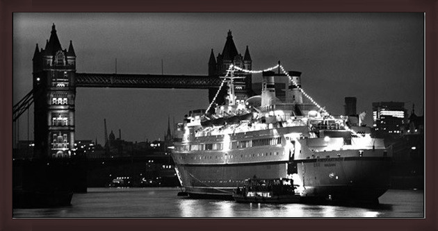 Finnpatner Ferry at Tower bridge, 1968 Art Print