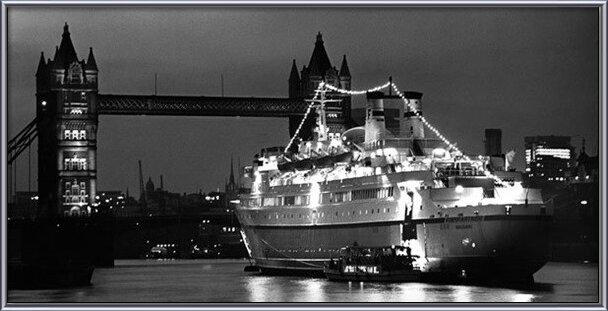 Finnpatner Ferry at Tower bridge, 1968 Art Print