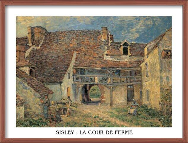 Courtyard of Farm at St. Mammes, 1884 Art Print