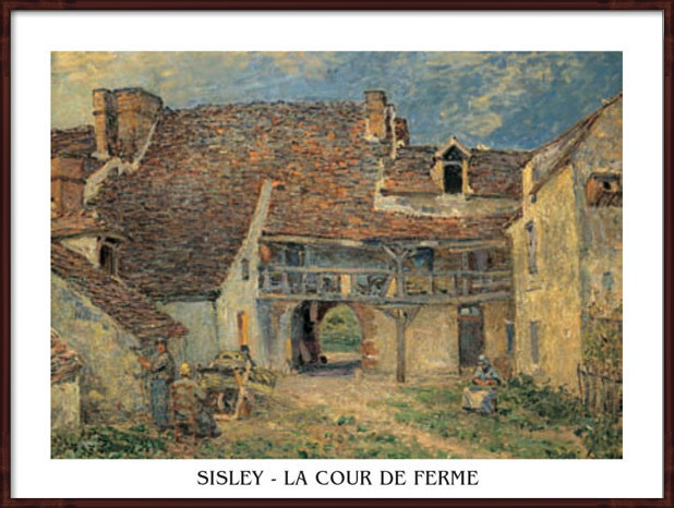 Courtyard of Farm at St. Mammes, 1884 Art Print