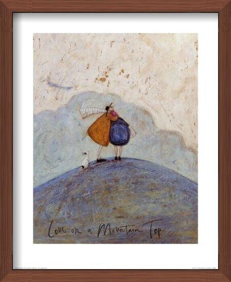 Sam Toft - Love on a Mountain Top Art Print