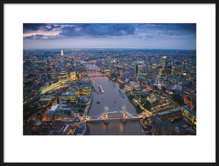 London - Jason Hawkes Art Print