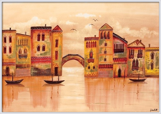Brown Venice Art Print