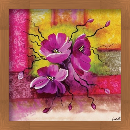 Purple Dahlias Art Print