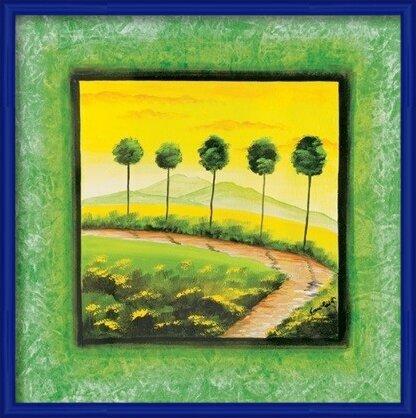 Green Path Art Print