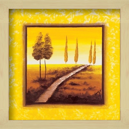 Yellow Path Art Print