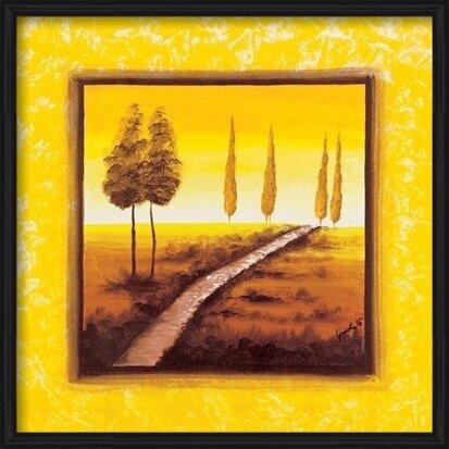 Yellow Path Art Print