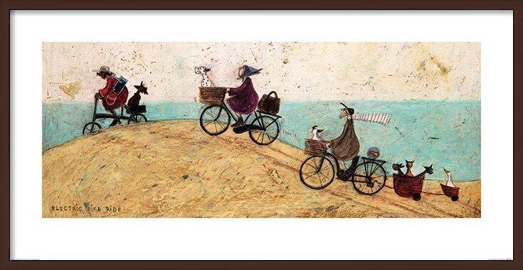 Sam Toft - Electric Bike Ride Art Print
