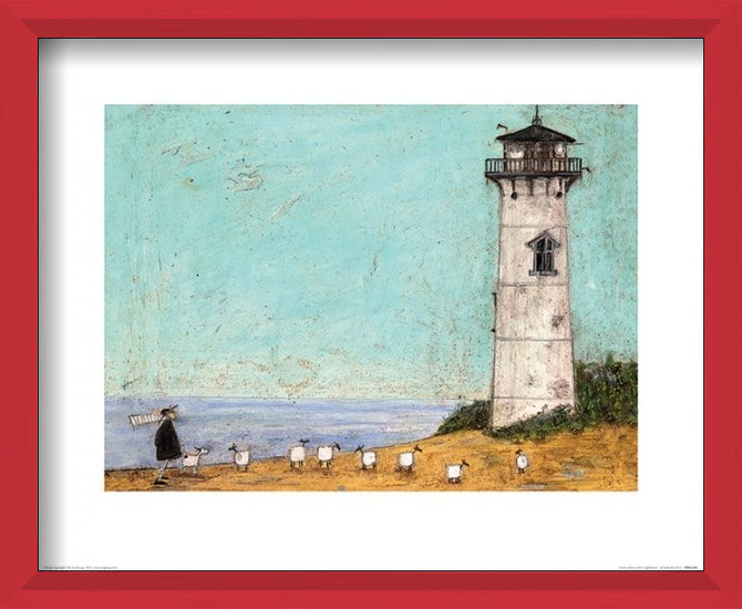 Sam Toft - Seven Sisters And A Lighthouse Art Print