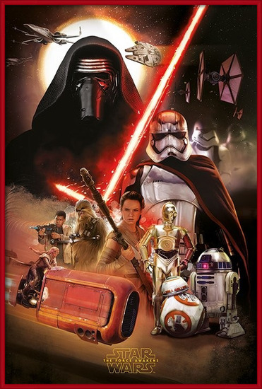 Star Wars Episode VII: The Force Awakens - Montage Poster