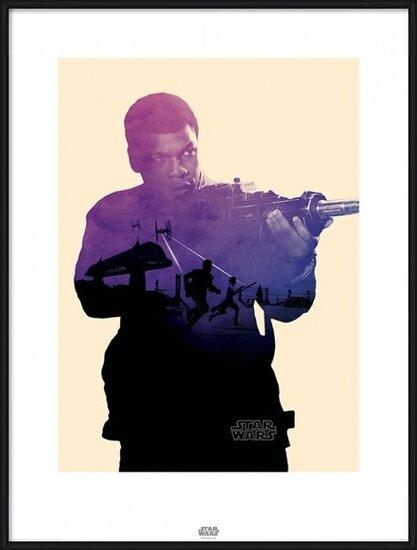 Star Wars Episode VII: The Force Awakens - Finn Tri Art Print
