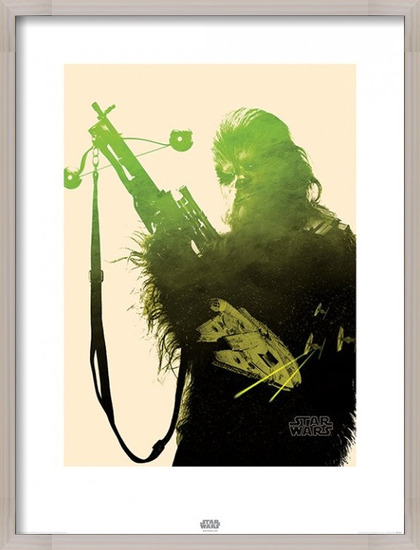 Star Wars Episode VII: The Force Awakens - Chewbacca Tri Art Print