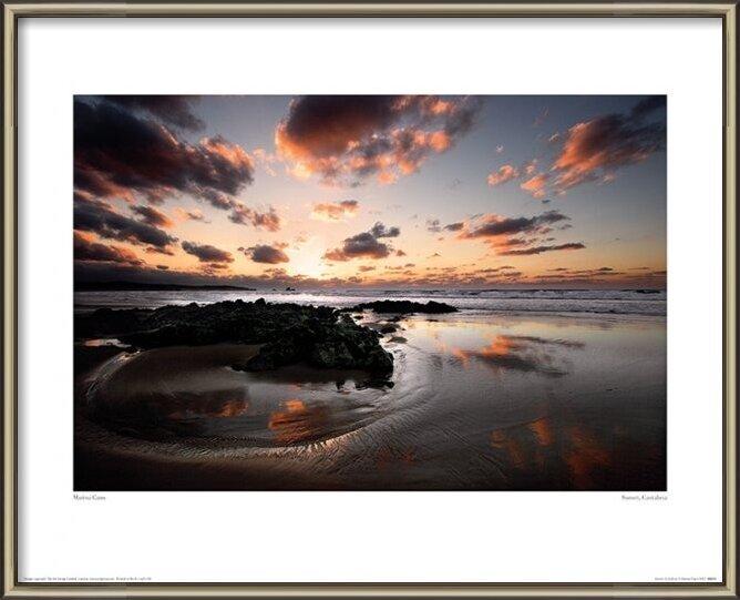 Marina Cano - Sunset, Cantabria Art Print