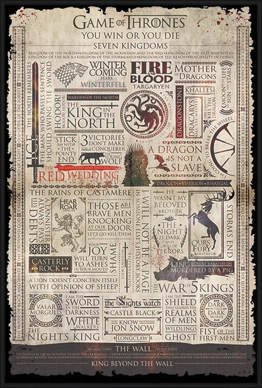 Game of Thrones - Infographic Poster