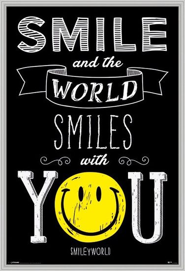 Smiley - World Smiles WIth You Poster