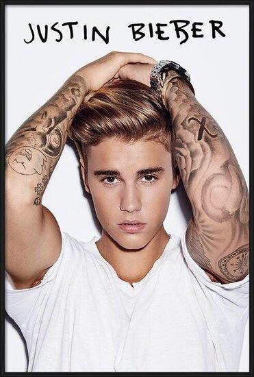 Justin Bieber - White Poster
