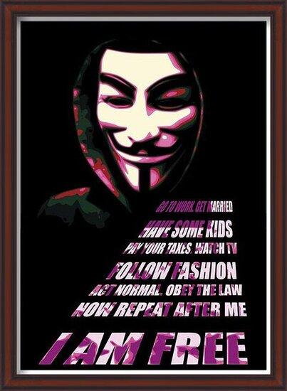 V for Vendetta - Mask Poster