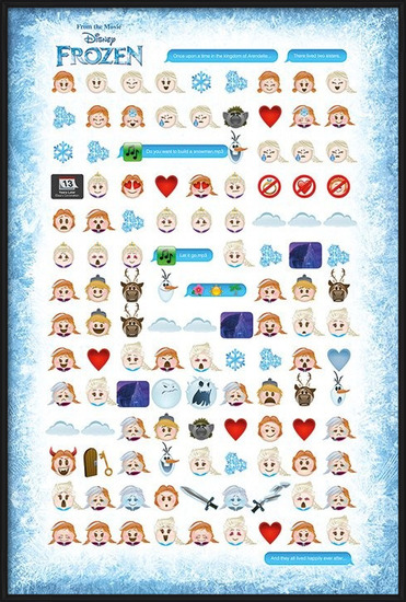 Frozen - Told By Emojis Poster