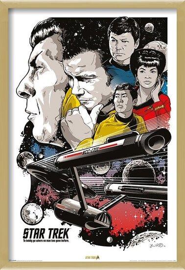 Star Trek - Boldly Go  50th Anniversary Poster