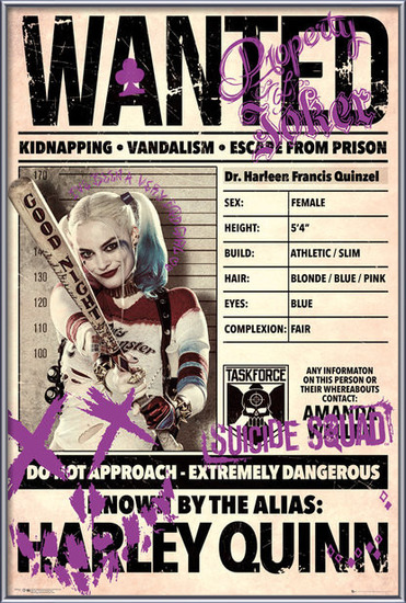 Suicide Squad - Harley Wanted Poster