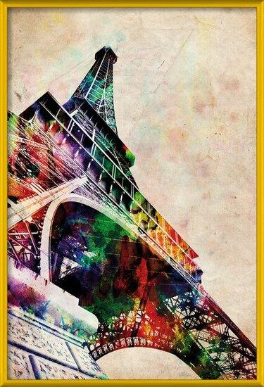 Michael Tompsett - Eiffel tower Poster
