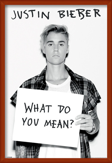 Justin Bieber - What Do You Mean ? Poster