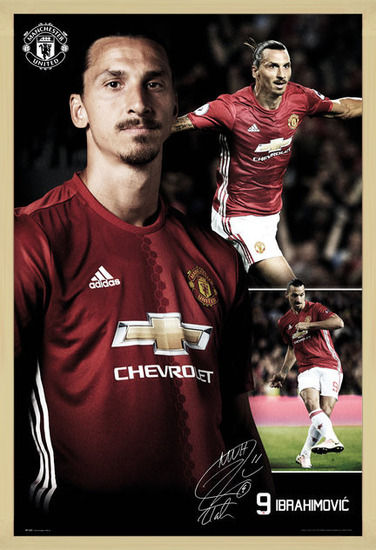 Manchester United - Ibrahimovic Collage 16/17 Poster