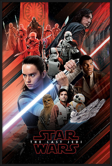 Star Wars The Last Jedi - Red Montage Poster