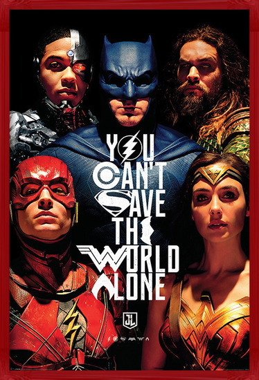 Justice League Movie - Save The World Poster