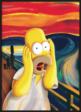 THE SIMPSONS - scream Poster