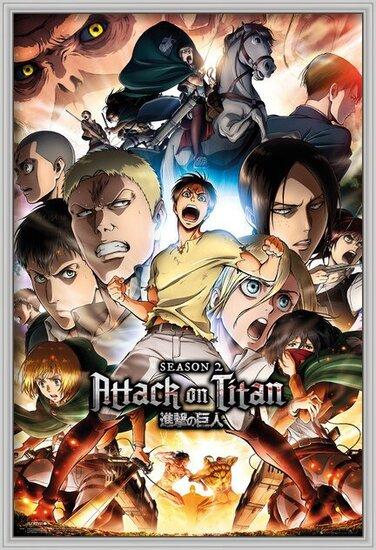 Attack on Titan (Shingeki no kyojin) - Season 2 Collage Key Art Poster