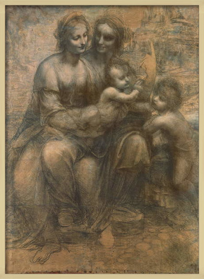 Fine Art Print  The Virgin and Child with Saint Anne, and the Infant Saint John the Baptist, c.1499-1500