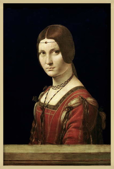 Fine Art Print Portrait of a Lady from the Court of Milan, c.1490-95
