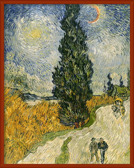 Fine Art Print Road with Cypresses, 1890