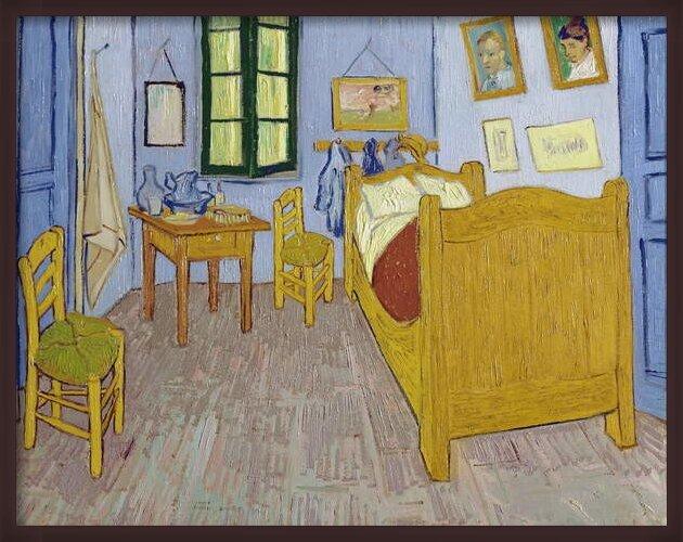 Fine Art Print Van Gogh's Bedroom at Arles, 1889