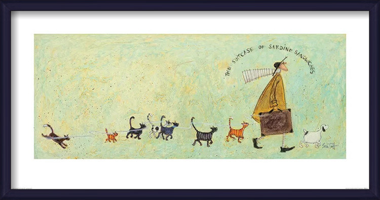 Sam Toft - The Suitcase of Sardine Sandwiches Art Print