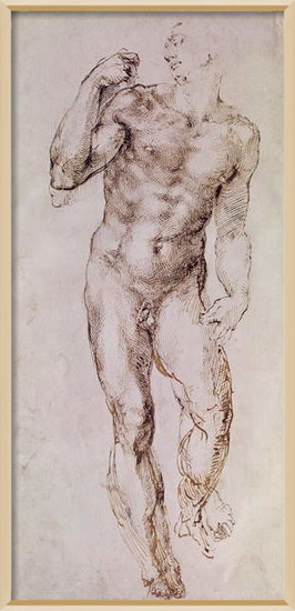 Fine Art Print  Sketch of David with his Sling, 1503-4